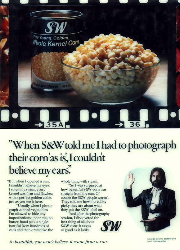 advertising copywriter food print ad